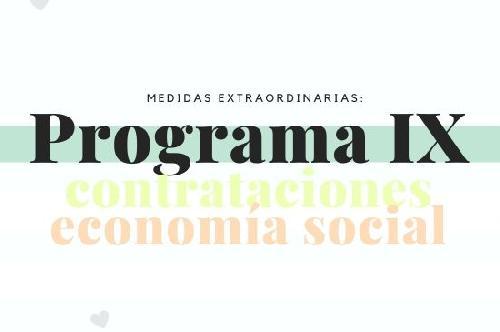 Fomento de nuevas contrataciones y mantenimiento de trabajo en entidades de la economía social